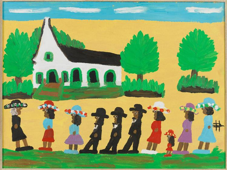 Going to Church, 1980 - 1986 - Clementine Hunter