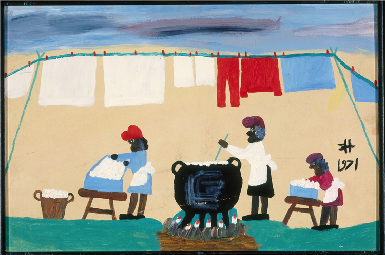 Washing Day, 1971 - Clementine Hunter