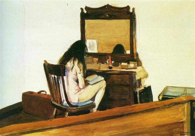 Interior (Model reading), 1925 - Edward Hopper
