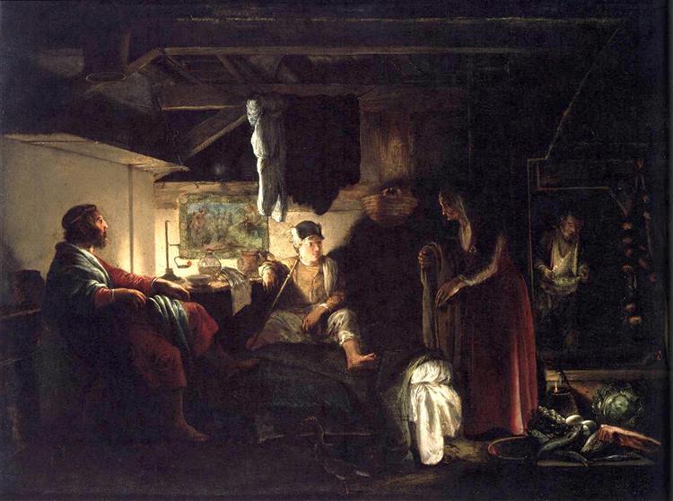 Jupiter and Mercury at Philemon and Baucis, 1609 - 1610 - Адам Эльсхаймер