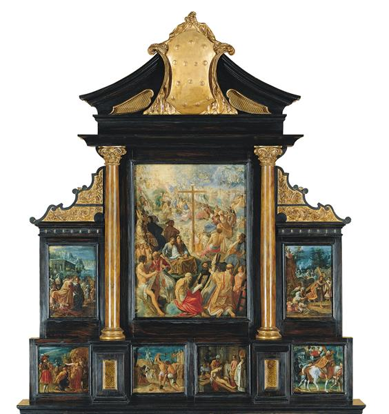 The Altarpiece of the Holy Cross, 1603 - 1605 - Адам Эльсхаймер