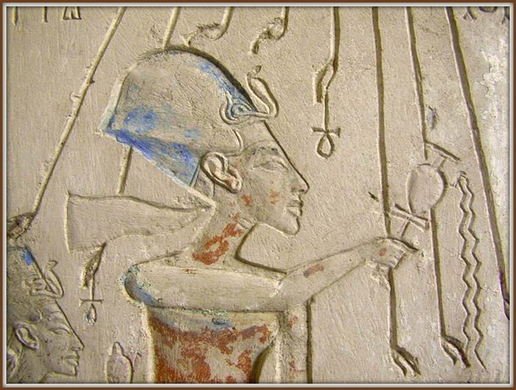 Detail of the Stone Shrine from the House of Panehesy Adjacent to the Aten Temple, c.1356 - c.1340 BC - Ancient Egypt