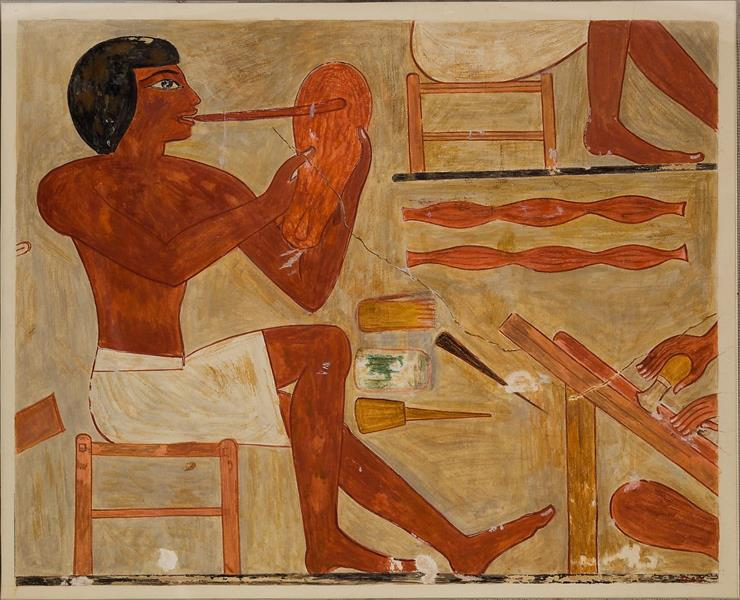 Sandal Maker, Tomb of Rekhmire, c.1479 - c.1400 BC - Ancient Egyptian Painting