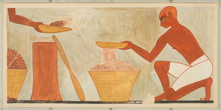 Sifting Meal, Tomb of Rekhmire, c.1504 - c.1425 BC - Ancient Egyptian Painting
