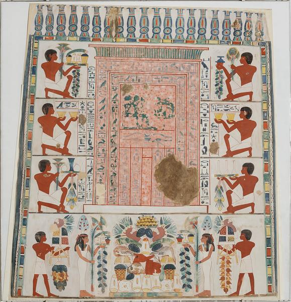 South Wall of Nakht's Offering Chapel, c.1410 - c.1370 BC - Ancient Egypt