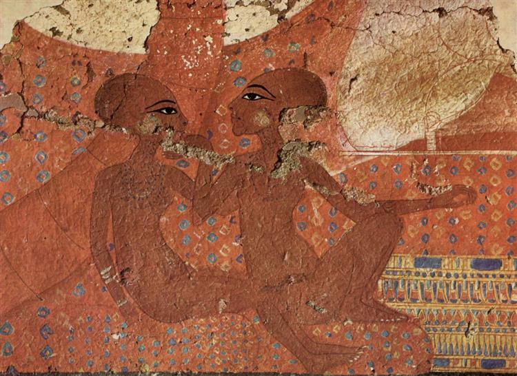 Two Daughters of Amenhotep IV; Nofernoferuaton and Nofernoferure., c.1375 - c.1358 BC - Ancient Egypt