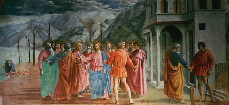 The Tribute Money (Brancacci Chapel), 1425 - Masaccio