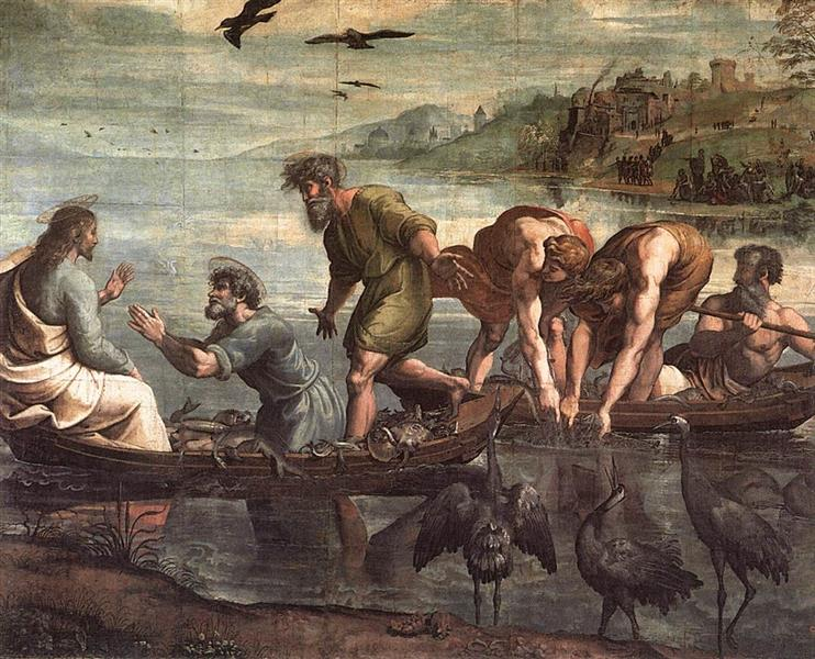 Miraculous Draught of Fishes, c.1500 - Raphael