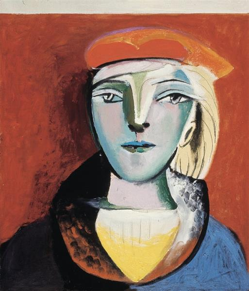 Portrait of Marie-Thérèse in a Red Beret, 1937 - Pablo Picasso
