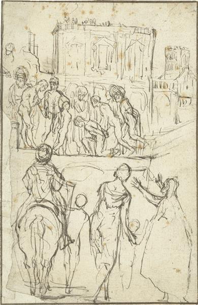 Josephus before Emperor Vespasian - Adam Elsheimer