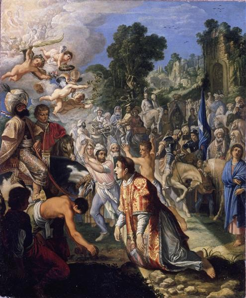The Stoning of St Stephen - Adam Elsheimer