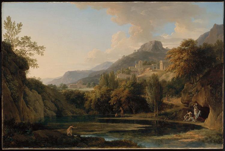 Italian Landscape with Bathers - Pierre-Henri de Valenciennes