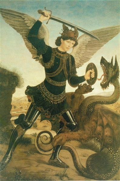 St. Michael and the Dragon - Antonio del Pollaiolo