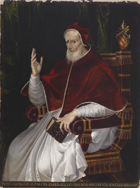 Portrait of Pope Pius V, c.1566 - Бартоломео Пассаротти
