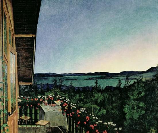 Noite de Verão - Harald Sohlberg