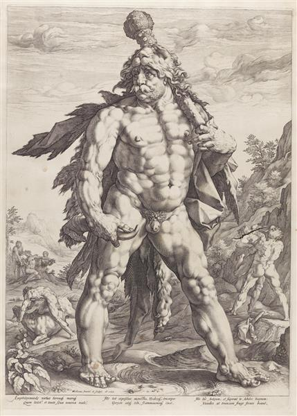 The Great Hercules, 1589 - Hendrick Goltzius