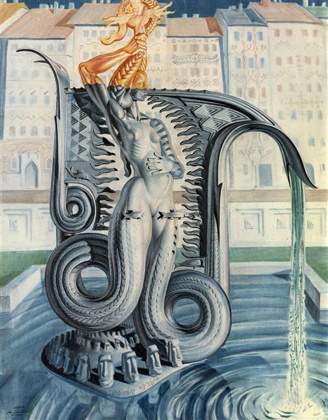 Monument for the Mermaid of Warsaw, 1954 - Stanisław Szukalski