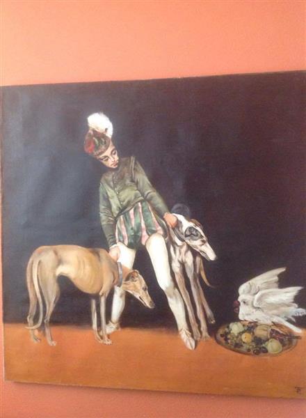 Boy with Dogs, c.1992 - Valeria Trubina