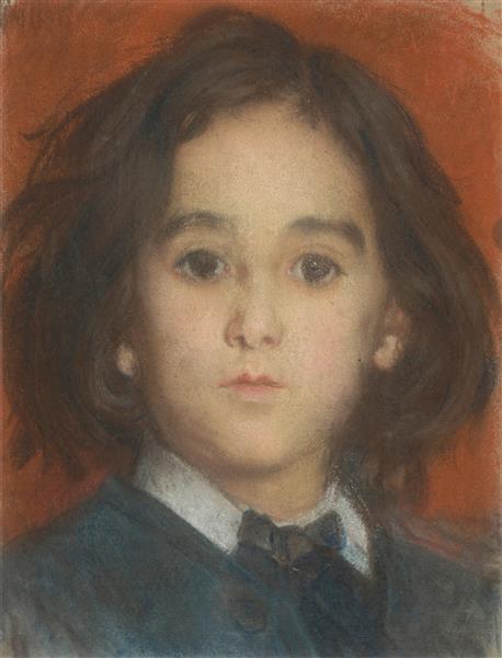 Portrait d'Edmond, fils de l'artiste, c.1875 - Alfred Dehodencq