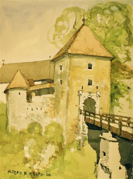 "One day ""en plein-air"": The Ozalj Castle, 2004 - Alfred Freddy Krupa"