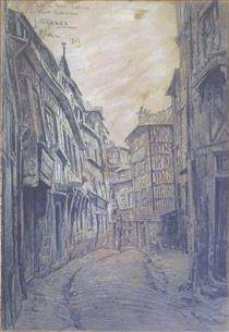 Le Vieux Rouen, Rue Du Petit Mouton - Fernand Combes