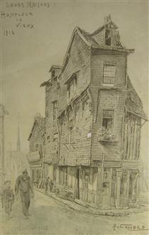 """Honfleur Le Vieux, """"Leurs Maisons"""" - Fernand Combes"""