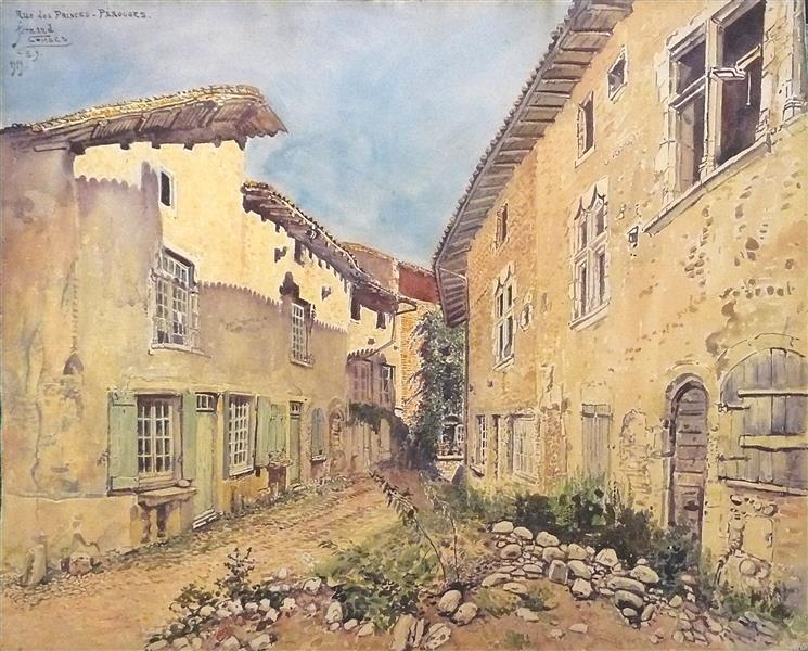 Pérouges, Rue Des Princes, 1919 - Fernand Combes
