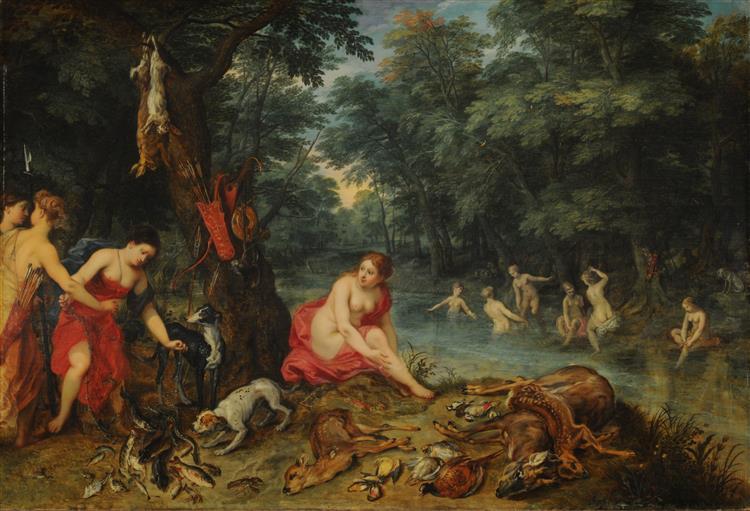 Nymphs bathing - Jan Brueghel the Elder