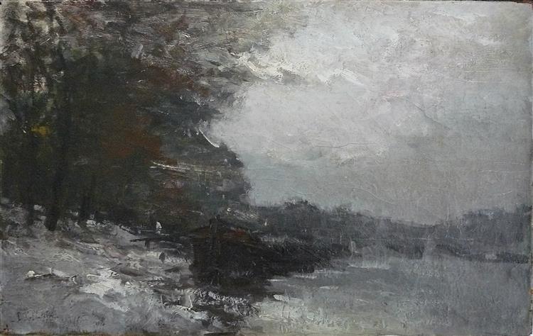 Paris, la Seine sous la Neige - Pierre-Jacques Pelletier
