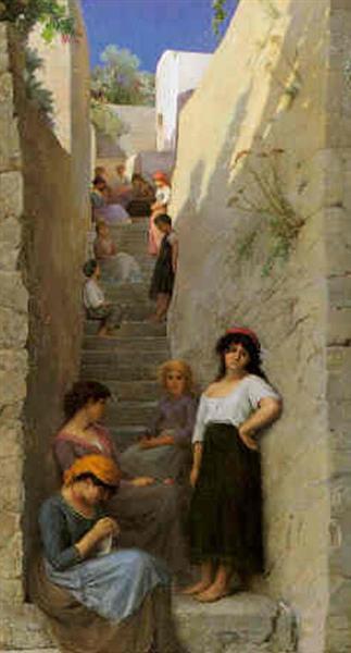 Угол в тени на Капри - Жан Беннер