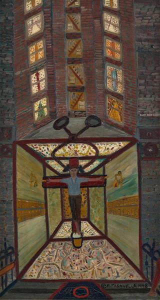 Iceman Crucified #1, 1948 - Ralph Fasanella