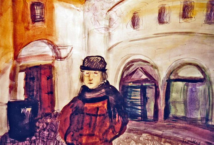 On the Corner at Kožená, Prague, 1992 - Maria Bozoky