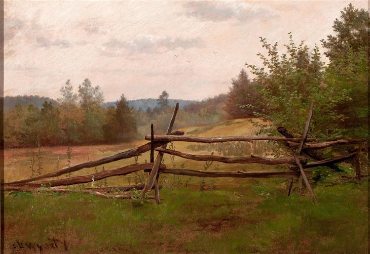 Split Rail Fence, 1862 - Alexander Helwig Wyant