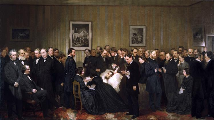 the Last Hours of Abraham Lincoln, 1868 - Alonzo Chappel