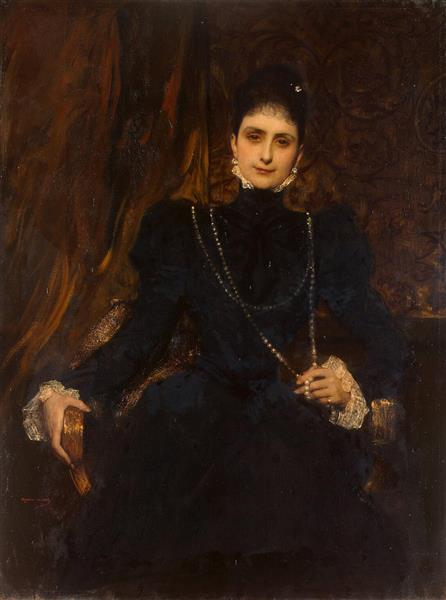 Portrait of Mme M. S. Derviz - Benjamin Constant