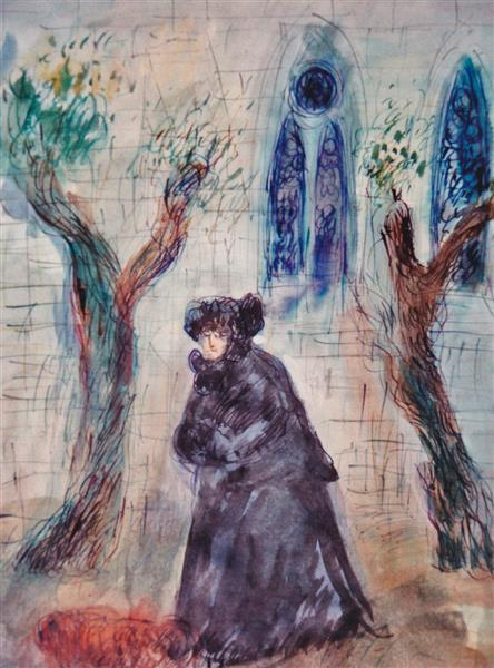 In the Monastery Court, c.1993 - Maria Bozoky