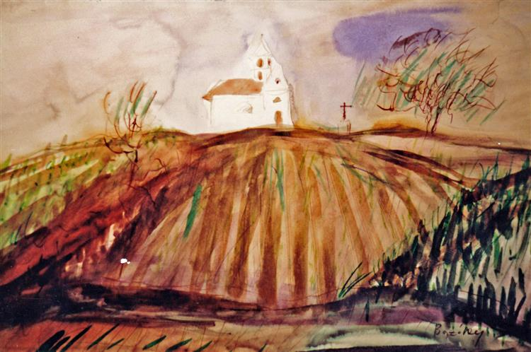 Chapel on Vineyard Hill, c.1992 - Maria Bozoky