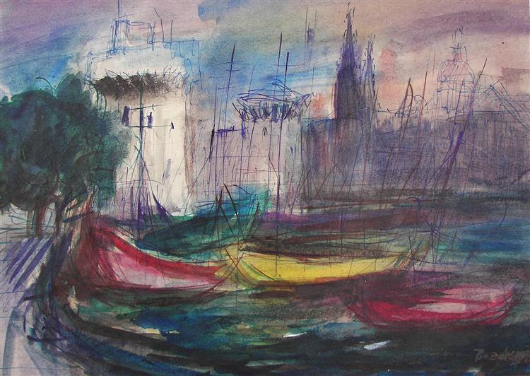 Sunset in La Rochelle, 1981 - Maria Bozoky