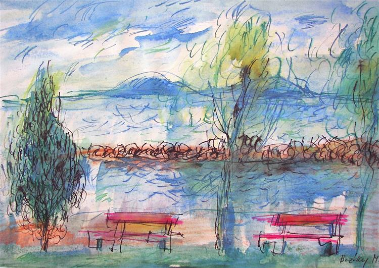 At Lake Balaton, c.1981 - Maria Bozoky