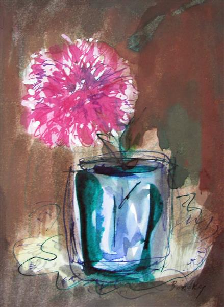 Carnation in a Blue Vase, 1993 - Maria Bozoky