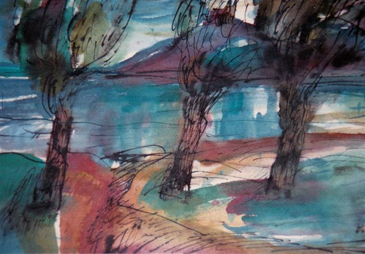 Autumn Colors, c.1981 - Maria Bozoky