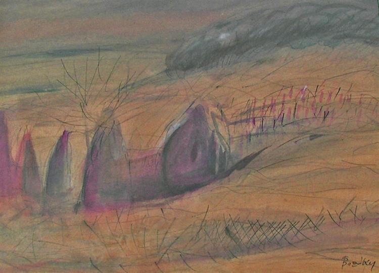 Foggy Beach, c.1981 - Maria Bozoky