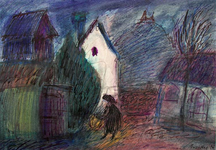 Evening at the Castle Wall, 1980 - Maria Bozoky
