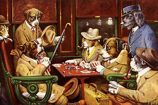 His Station and Four Aces, 1903 - Cassius Marcellus Coolidge