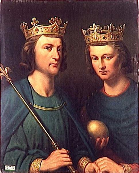Louis III et Carloman, Rois De France, Fils de Louis le Bègue, Rois de France - Charles de Steuben