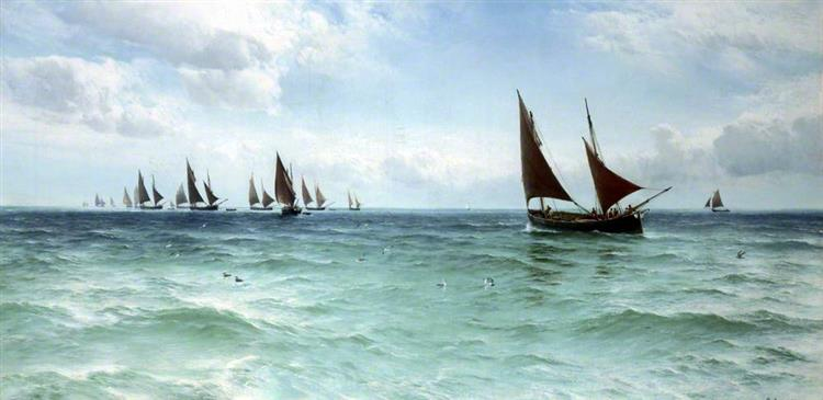 Fishing Boats Going Out - David James