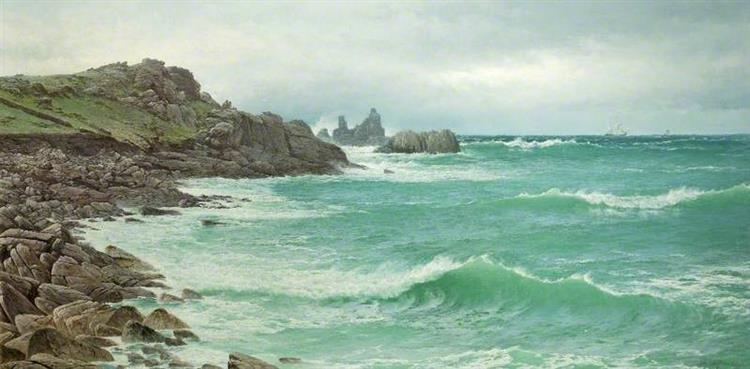 Rising Tide, Coast of Scilly, 1885 - David James