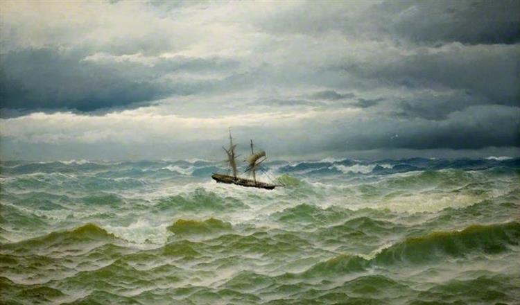 Sea Piece, 1882 - David James