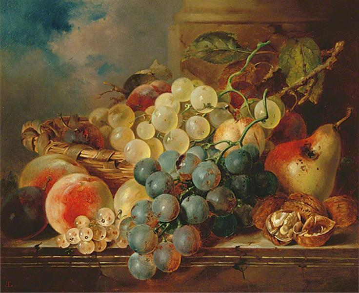 Basket of Fruit, 1867 - Edward Ladell