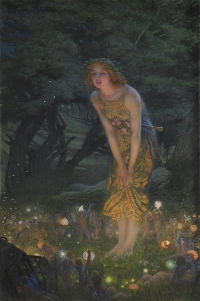 Midsummer Eve, c.1908 - Edward Robert Hughes